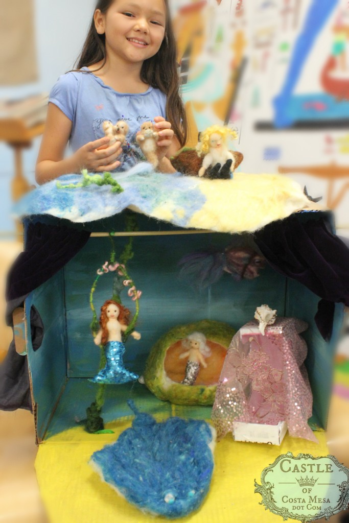 2276 150703 Nunu's Dreamy Shimmery Mermaid Kingdom theater diorama set with mermaid seawitch sting ray sea otters prince boat and more