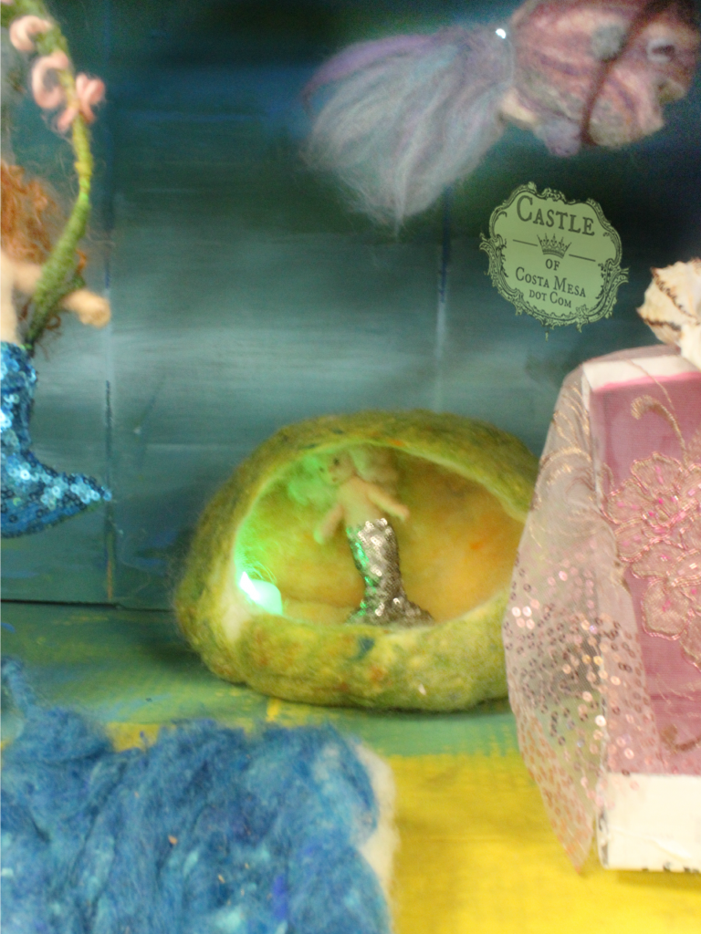 2282 150703 Nunu's needle-felted sea witch mermaid brewing a potion