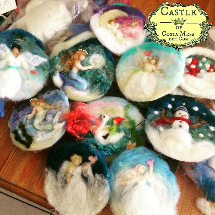 151205 Castle of Costa Mesa Jzin Teng donations wool pictures to Winter Festival donations logo