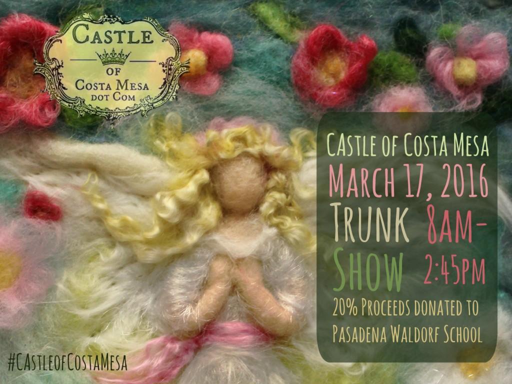 160301 Castle of Costa Mesa poster Denmark Spring flower Blonde Guardian Angel
