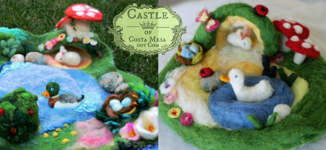 160325 Slider Castle of Costa Mesa Creatures in their homes playscape L