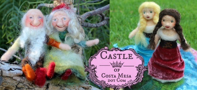 160325 Slider Castle of Costa Mesa needle-felted dolls