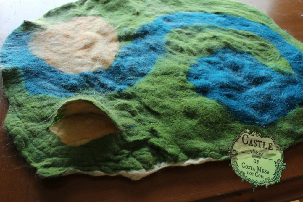 160302 additional wet-felted playscape, yielding a shrunken and sturdier piece